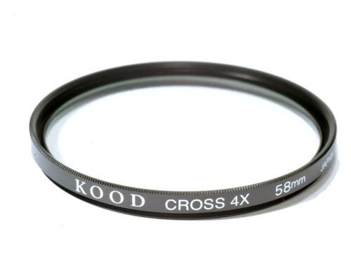 58mm Alta Calidad Vidrio Kood Star 4 filtro fabricado en Japón 4 punto 4PT
