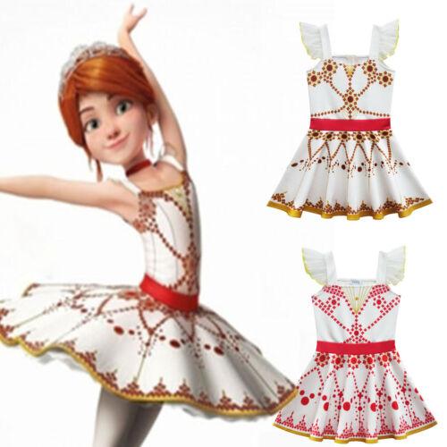Girl Kid Leap Ballerina Dress Ballet Dance Tutu Skirt Dancewear Party Costume US