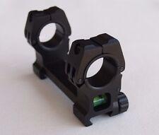 "Rifle Scope Mount 30mm & 1"" Dia. w/ Bubble Level Picatinny Weaver Rail Rings M10"