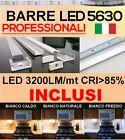 Barra alluminio LED 5630 0.5m 1m 1.5m 2m kit completo LA+ LUMINOSA SUL MERCATO!