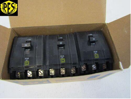 NEW LOT OF 3 SQUARE D QO335 3 POLE 35 AMP CIRCUIT BREAKERS FITS NQ NQOD
