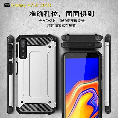 designer fashion 8722a 37295 For Samsung Galaxy A7 2018 A750, Shockproof Hybrid Armor Hard PC TPU ...