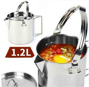 1-2L-Billy-Stainless-Steel-Cam-outdoor-camping-Survival-Bushcraft