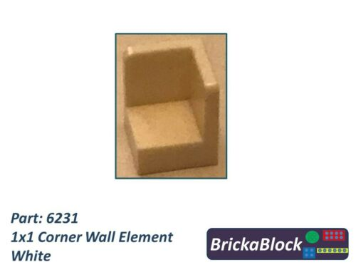 Choose 1,2,4,6,8,10 or 50 NEW /& GENUINE Lego Part 6231 1x1 Corner Wall Element