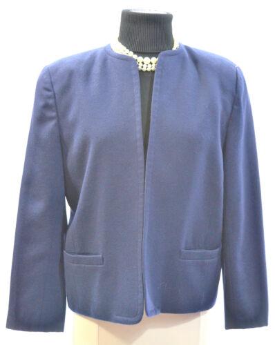 Vtg Carriera Blazer 100 8 Coat Crop Talbots Open Navy Lana Front Nuovo Suit RTqFPx