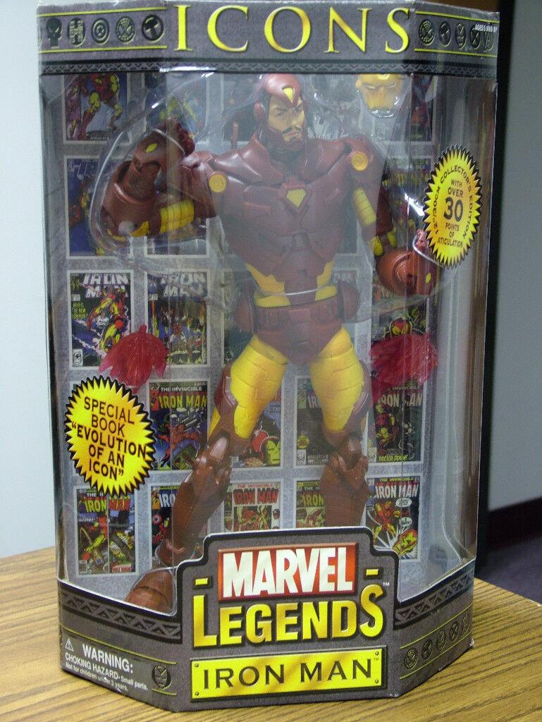 Iron man - marvel - legenden, symbole, gelb - version