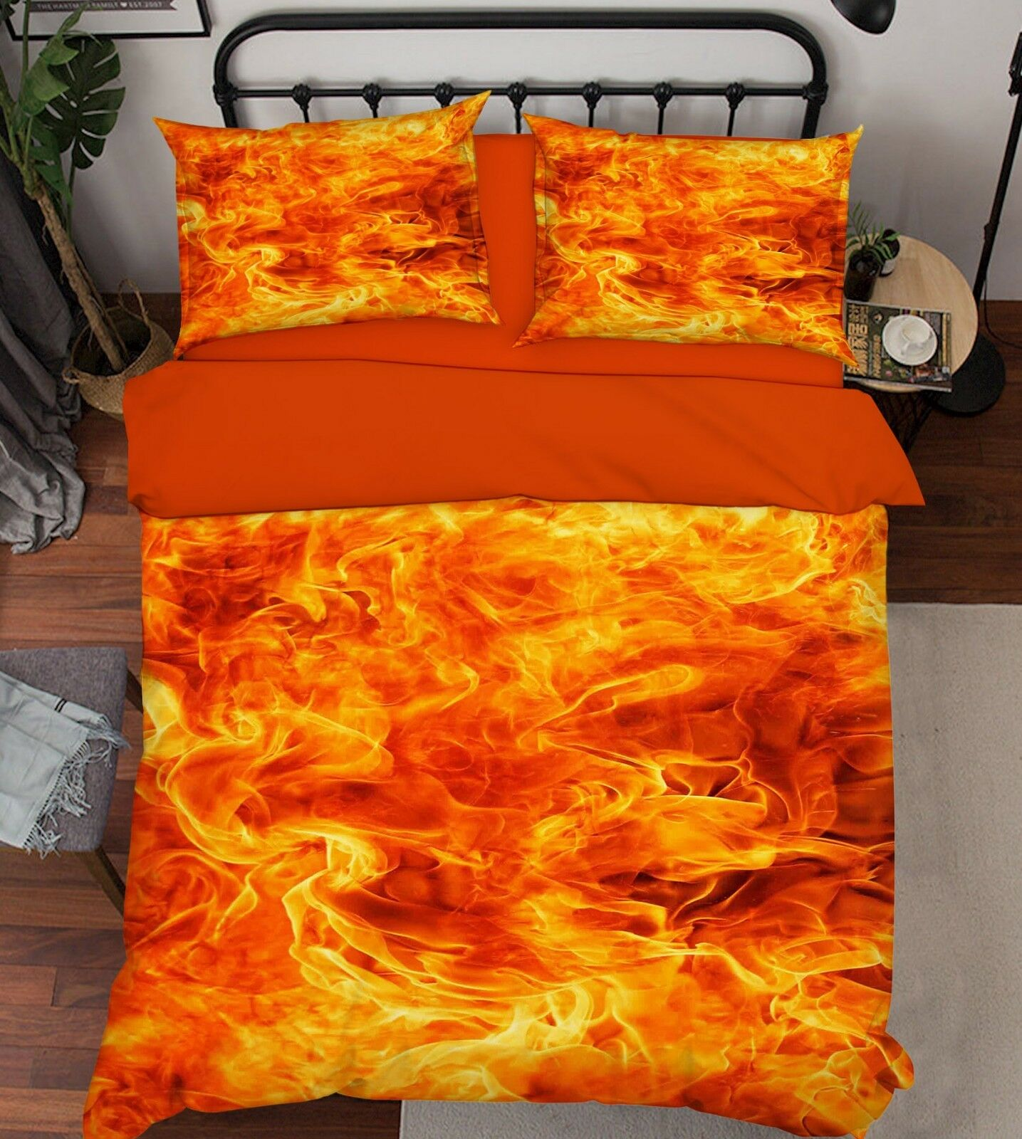 3D Flame Pattern 07 Bed Pillowcases Quilt Duvet Cover Set Single Queen King CA