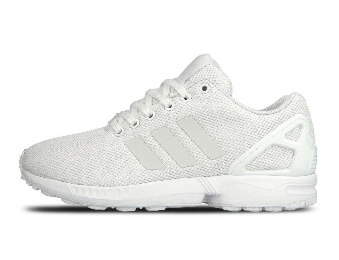 Adidas Men's ZX FLUX 3M White Athletic   Training   Casual Sneakers S79093