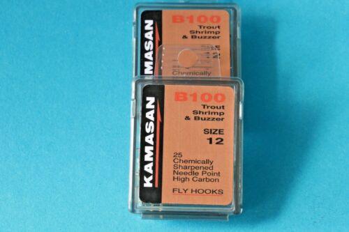 #12 #14 #16 Originalpackung 25 Stück High Carbon Japan Kamasan B100 Gr
