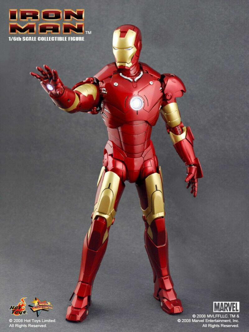 Hot Toys Iron Man MMS75 Marke III 3 Actionfigur 1 6 Masterpiece Sideshow 2008
