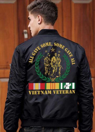 2020 New Vietnam Veteran printing Men/'s Loose Casual Jacket coat US SIZE S-5XL