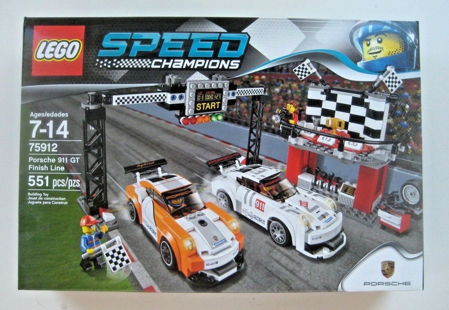 LEGO Speed Champions Porsche 911 GT Finish Line 75912 NEW