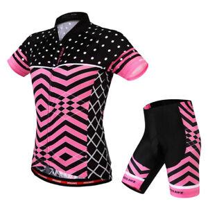Velo-de-route-Velo-Femmes-Cyclisme-Manches-Courtes-Maillots-Haut-T-shirt
