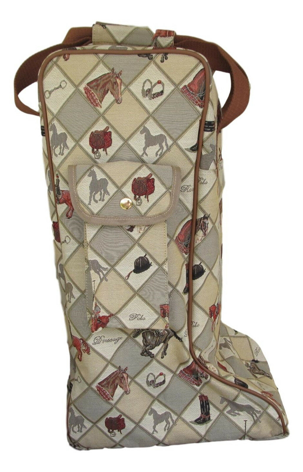 Tapestry Equestrian Sport Horse Riding Boot Storage Bag