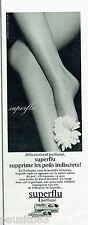 PUBLICITE ADVERTISING 115  1965  SUPERFLU   creme dépilatoire