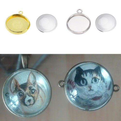 Lots Floating Round Base Locket Pendant DIY Necklace Jewelry Making Accessories