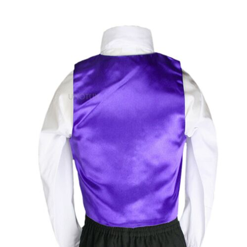Bow Tie Set for Baby Toddler Teen Boy Suit Tuxedo S-7 23 Color 2pc Satin Vest