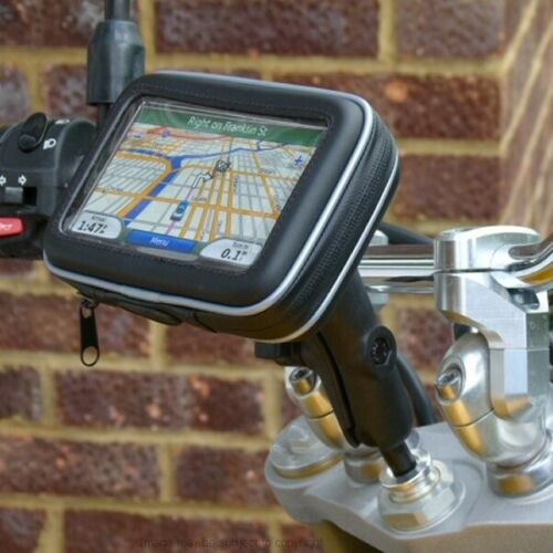 "15mm-17mm Deportes motocicleta Stem Tenedor yugo 6 /""Gps satnav soporte de montaje"