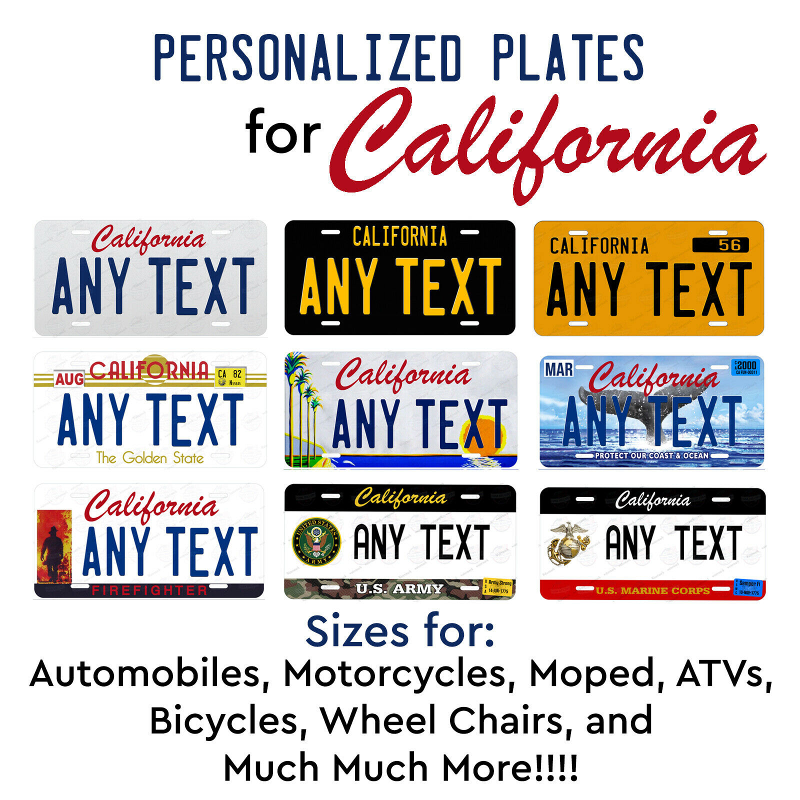 CUSTOM PERSONALIZED ALUM BICYCLE MINI STATE LICENSE PLATE-FLORIDA SEA TURTLES