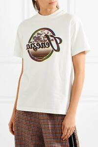 GGDB-Golden-Goose-Printed-Cotton-Jersey-Venezia-Retro-Beach-Graphic-TShirt-Top-M
