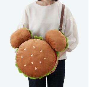 Tokyo Disney Resort Mickey Hamburger Plush tote bag shoulder bag disneyland sea