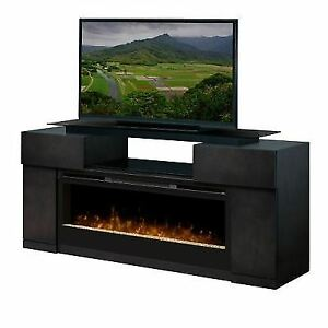 dimplex concord tv stand with electric fireplace ebay rh ebay com Fireplace TV Stands From Walmart Menards Electric Fireplace TV Stands