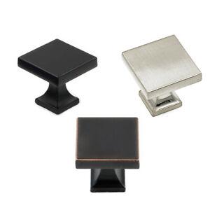 Square Cabinet Knobs Bronze Black Brushed Nickel Metal ...