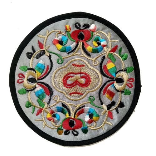 2//10pcs Chinese embroidery art cup mat coaster embroidery craft insulation pad