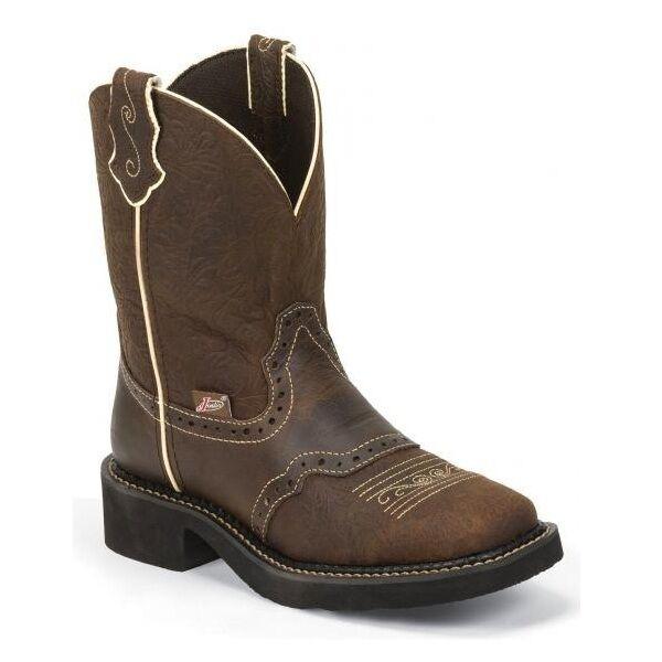 hasta 42% de descuento Señoras botas Justin Gypsy Marrón Marrón Marrón en relieve L9618  marcas de diseñadores baratos