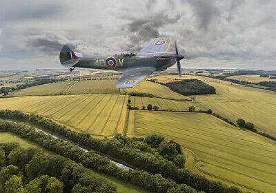 BBMF Spitfire and Lancaster canvas prints various sizes free delivery