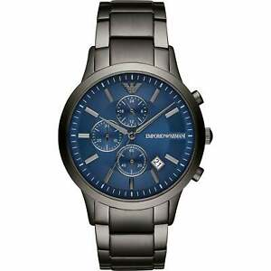 online shop retail prices fashion style Details about Emporio Armani Watches AR11215 Grey & Blue Steel Chronograph  Mens Watch