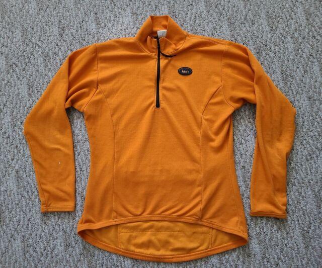 EUC REI Women's 1/2 Zip Long Sleeve Cycling Jersey Size Large L Color Orange