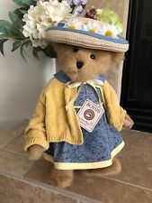 Boyds Bears DENISE DAISYDEW #994070 2003 16? Plush????Straw Hat, YL Sweater NWT