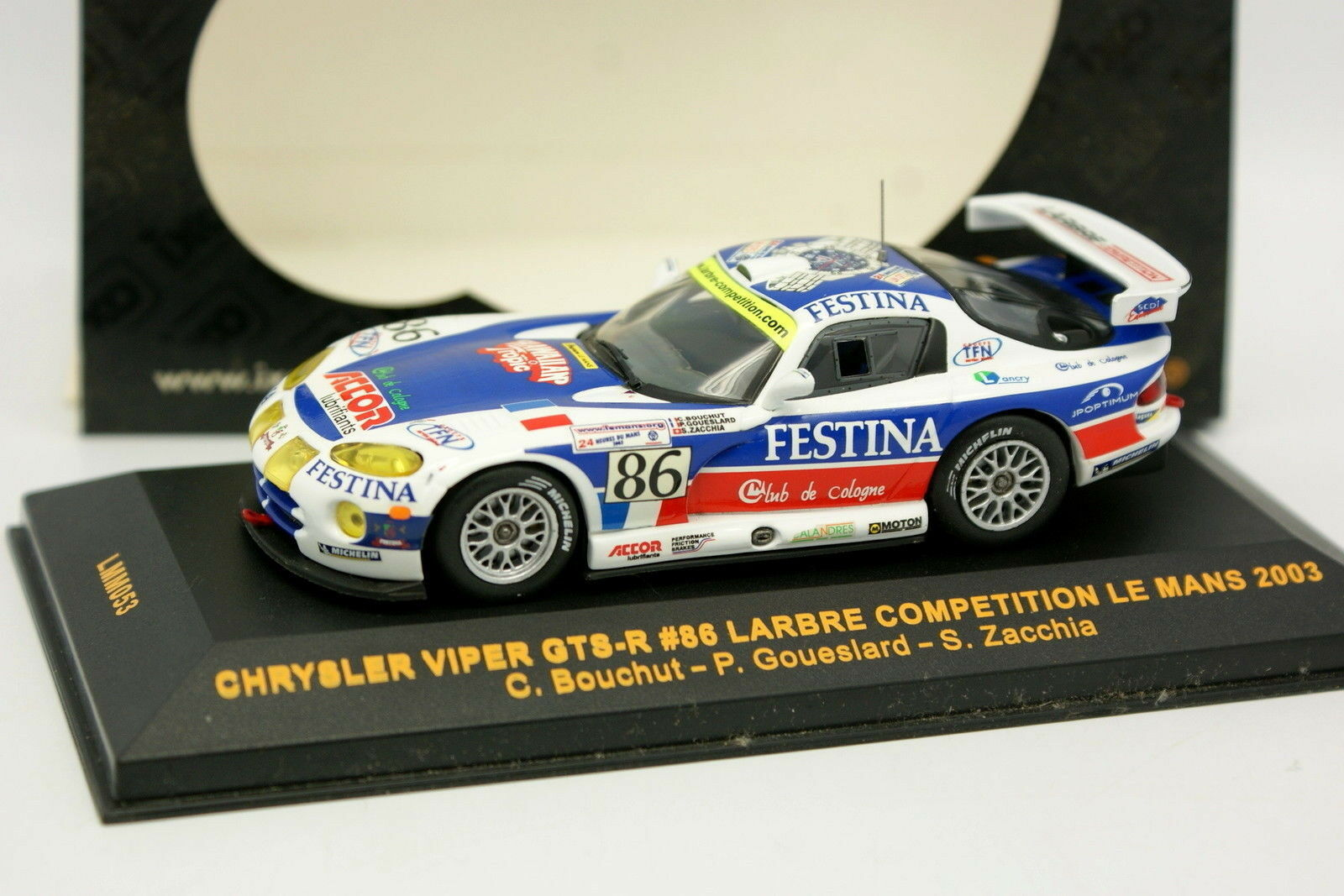 Ixo 1 43 - Chrysler Viper GTS R N.86 Larbre Le Mans 2003