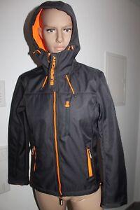 premium selection becfd 01de0 Details zu SuperDry Windtrekker Herren Jacke Grau Orange Größe S Neu mit  Etikett