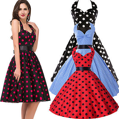 Vintage Retro Style 50's 60s Swing Pinup Housewife Party PROM Dresses