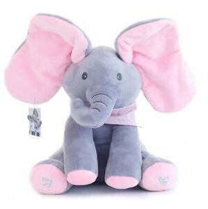 Singing-Plush-Elephant-Toy-Peek-a-Boo-Animated-Talking-Stuffed-Doll-For-Baby
