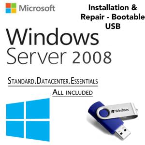 Details about WINDOWS SERVER 2008 EDITION[Standard & Datacenter  Enterprise][64GB USB 64 Bit]
