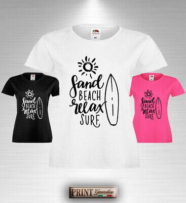 T-Shirt mare tavola surf gare sole relax elegante estate moda slim uomo donna