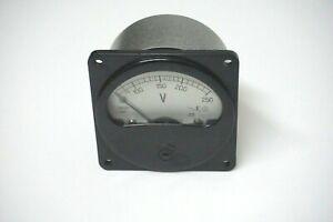 0-250V  Russian AC E8021 MILITARY Analog Voltmeter Э8021
