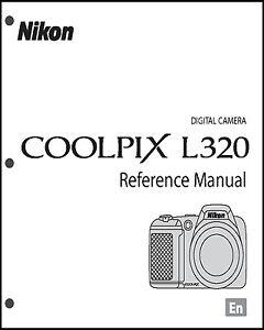 nikon coolpix l320 digital camera user guide instruction manual ebay rh ebay co uk nikon coolpix a10 camera instruction manual nikon digital camera d3100 user manual