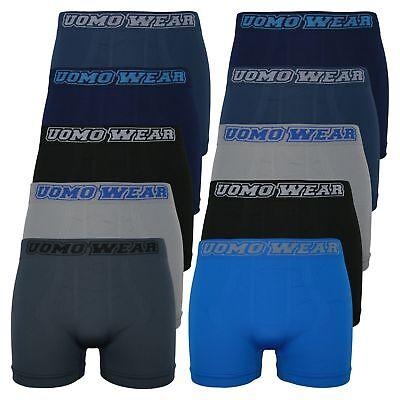 10er Pack Boxershorts M//L Uomo Streifen Microfaser Herren Unterhose Shorts Basic