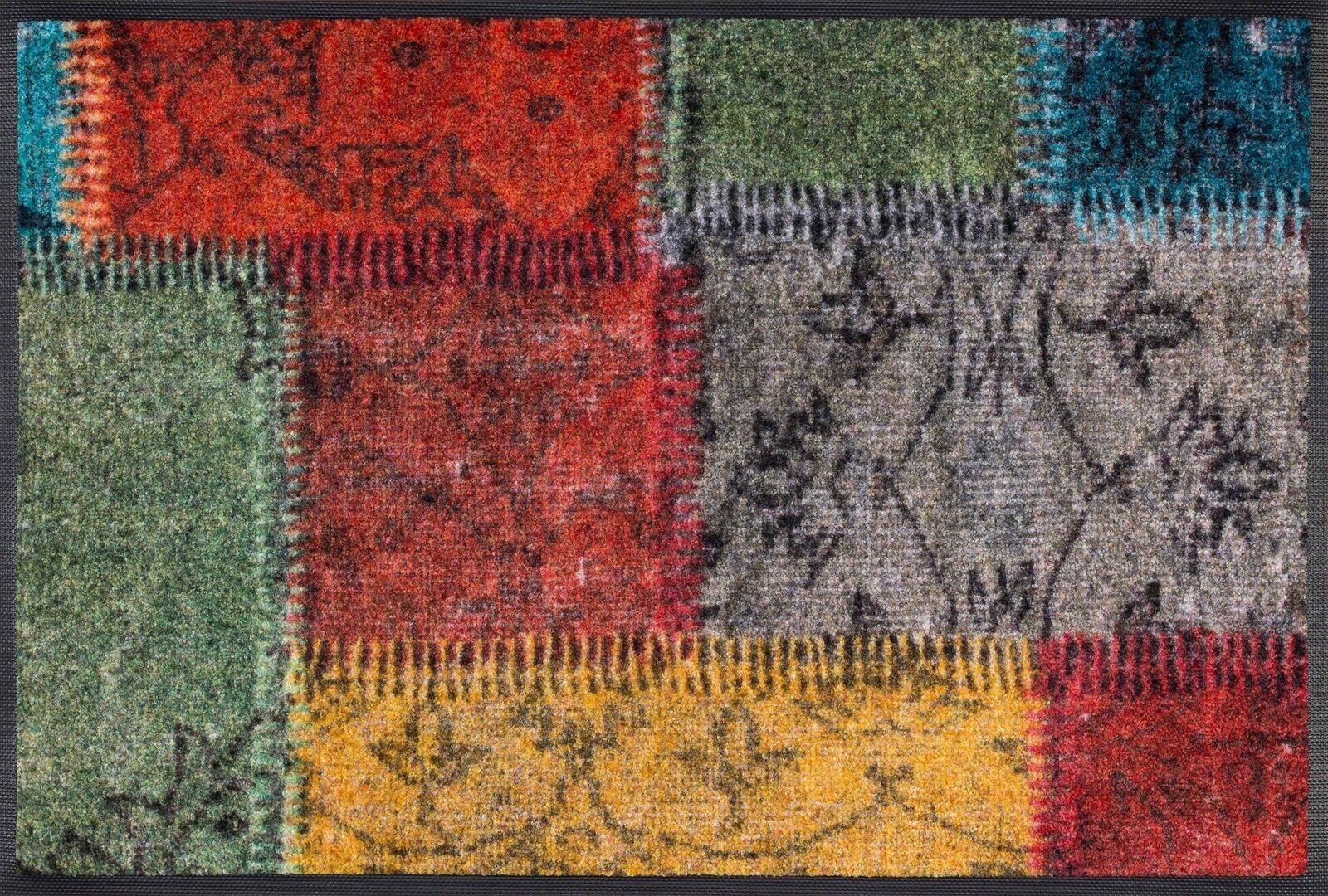 Wash+dry Fußmatte Vintage Vintage Vintage Patches waschbare Fußmatte Patchwork 6ce7ff