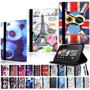 Leather-Tablet-Stand-Flip-Cover-Case-For-Amazon-Kindle-Fire-7-HD-8-HD-10-alexa