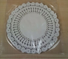 White Round Paper Floral Lace Cake Liner Craft Doilies 5 Inch 72 Pack 4370 NEW
