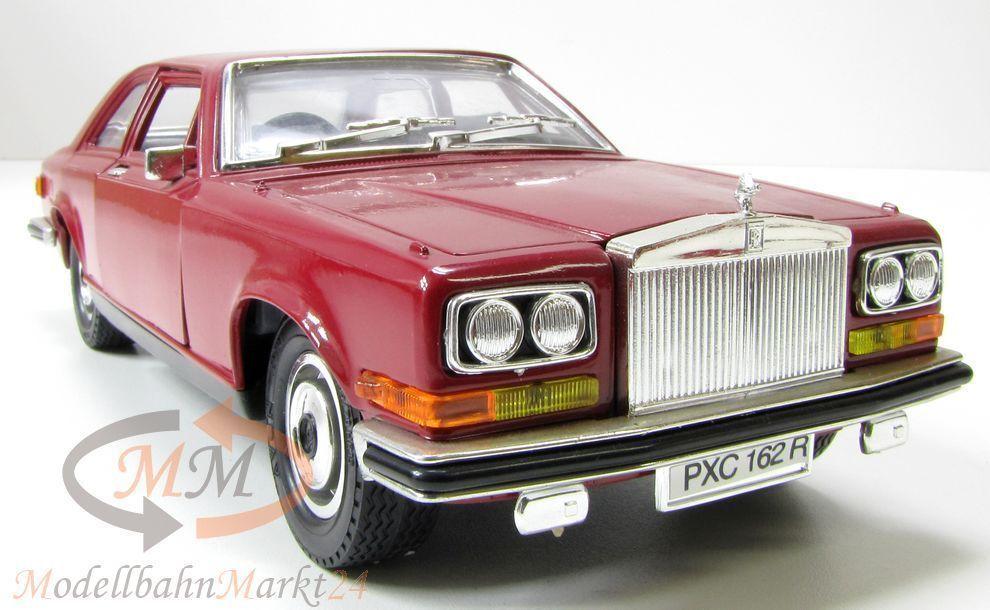 BBURAGO 3001 Rolls -Royce Camargue Die -Cast Metal röta 1 22 - OVP