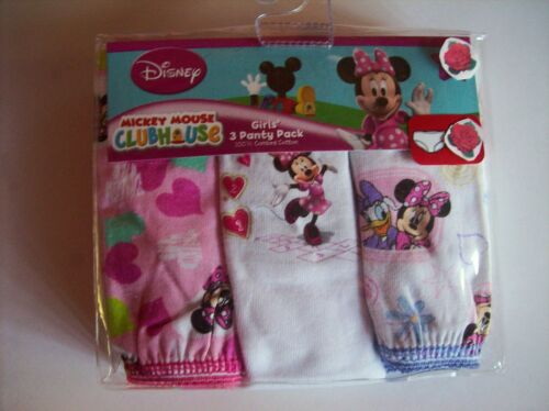 Minnie Mouse Girls Underwear 3 Pair Panty Pk Sz  2 4 6 8 Daisy Duck Disney