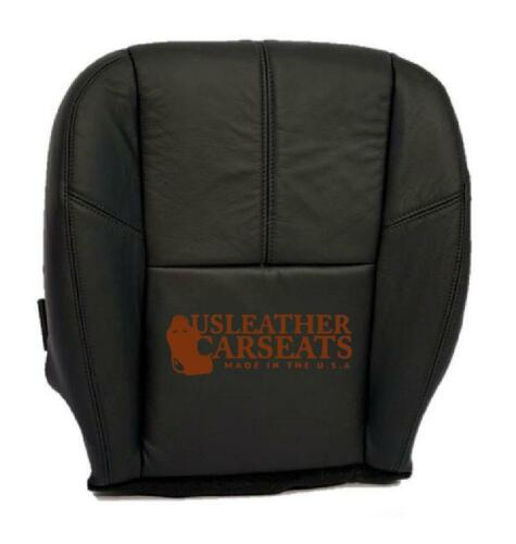 2007-2013 Chevy Avalanche  Silverado Passenger Bottom Leather Seat Cover Black