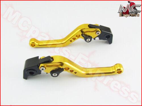 Details about  /MC Short Adjustable CNC Levers Yamaha YZF R1 2009-2014 Gold