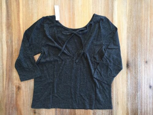 NWT J Crew Tie Back T-shirt Washed Gray Top Blouse Medium
